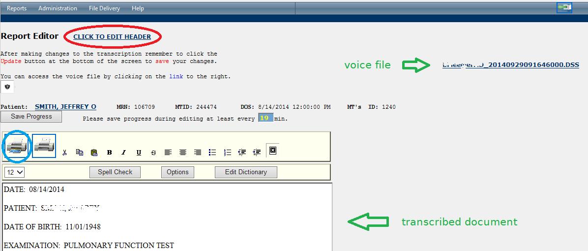 Report Editor